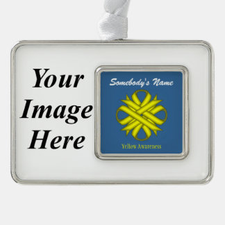 Yellow Clover Ribbon Template (H-I) Ornament