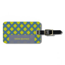Yellow Clover Ribbon Template Luggage Tag