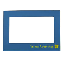 Yellow Clover Ribbon Template Magnetic Picture Frame