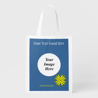 Yellow Clover Ribbon Template Market Tote