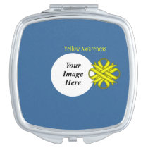 Yellow Clover Ribbon Template Mirror For Makeup
