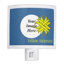 Yellow Clover Ribbon Template Night Light
