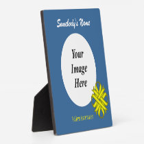 Yellow Clover Ribbon Template Plaque
