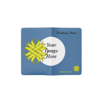 Yellow Clover Ribbon Template Pocket Moleskine Notebook