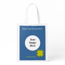 Yellow Clover Ribbon Template Reusable Grocery Bag