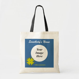 Yellow Clover Ribbon Template Tote Bag