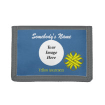Yellow Clover Ribbon Template Trifold Wallet
