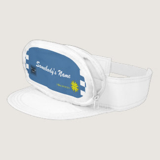 Yellow Clover Ribbon Template Visor