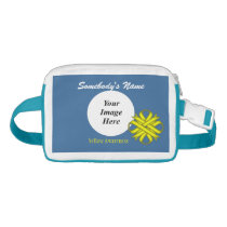 Yellow Clover Ribbon Template Waist Bag
