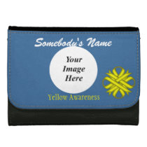 Yellow Clover Ribbon Template Wallet For Women