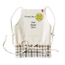 Yellow Clover Ribbon Template Zazzle HEART Apron