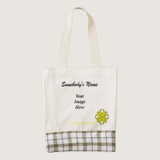 Yellow Clover Ribbon Template Zazzle HEART Tote Bag