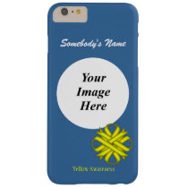 Yellow Clover Ribbon Tmpl by Kenneth Yoncich Barely There iPhone 6 Plus Case