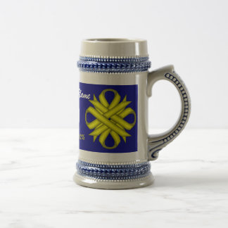 Yellow Clover Ribbon Tmpl by Kenneth Yoncich Beer Stein