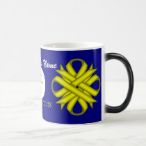 Yellow Clover Ribbon Tmpl by Kenneth Yoncich Magic Mug