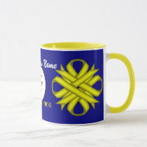 Yellow Clover Ribbon Tmpl by Kenneth Yoncich Mug