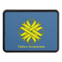Yellow Clover Ribbon Tow Hitch Cover