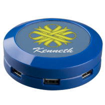 Yellow Clover Ribbon USB Charging Station