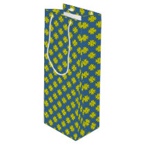 Yellow Clover Ribbon Wine Gift Bag
