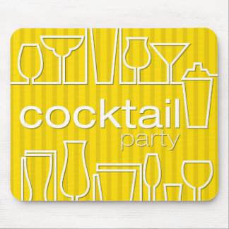 Yellow cocktail party mouse pad