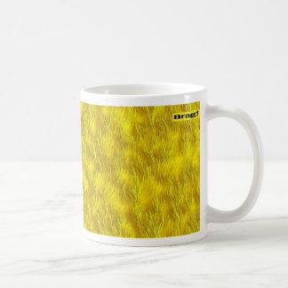 yellow coffee mug digital art patterned