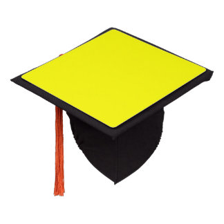 Yellow color background ready to customize graduation cap topper