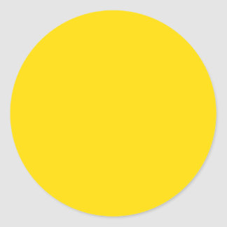 Yellow Color Circle Classic Round Sticker