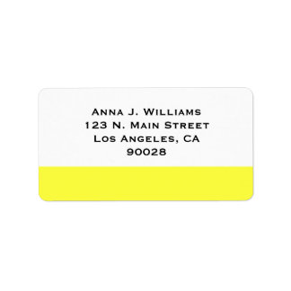 yellow color label
