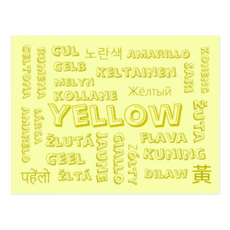 Yellow - Color Languages on Postcards