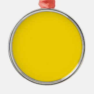 Yellow Color Premium Round Round Metal Christmas Ornament