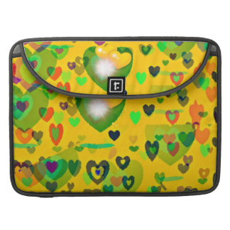 yellow colored hearts macbook sleeve MacBook pro sleeve