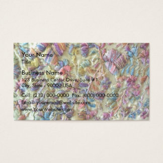 Yellow colored mexican clothing business card