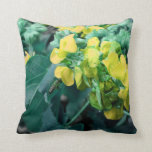 yellow colorized flowers with bee throw pillow