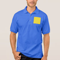 Yellow Combination  Checkerboard by ShirleyTaylor Polo Shirt