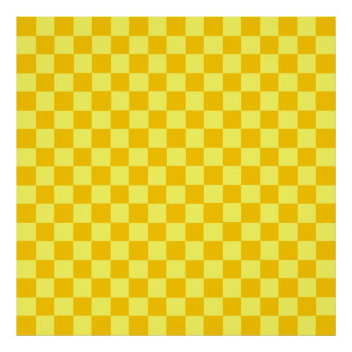 Yellow Combination Classic Checkerboard by STaylor Poster
