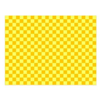 Yellow Combination Classic Checkerboard Postcard