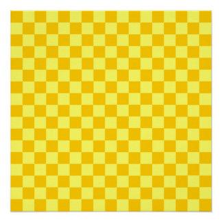 Yellow Combination Classic Checkerboard Poster