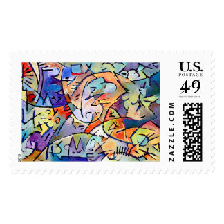 Yellow Composition Postage Stamp