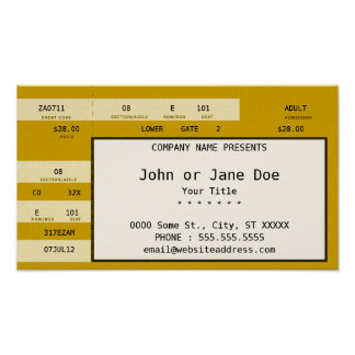 yellow concert ticket poster