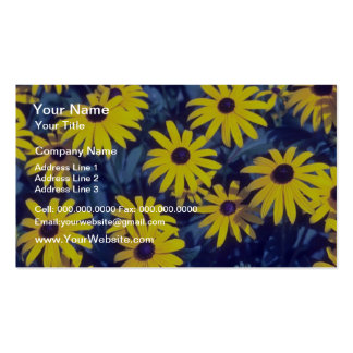 yellow Coneflower, (Rudbeckia) flowers Double-Sided Standard Business Cards (Pack Of 100)