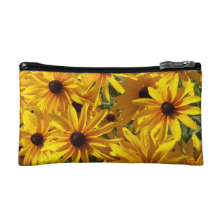 Yellow Coneflowers Makeup Bag