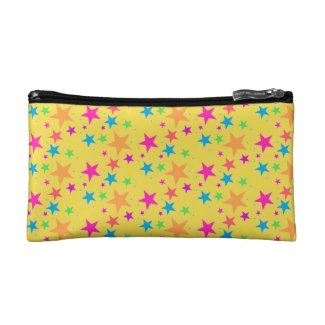 Yellow Confetti Black Multi Makeup Bag