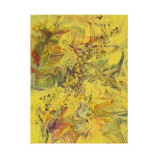 Yellow Contemporary Digital Abstract Painting Canvas Print