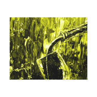 Yellow Contemporary Fine Wine Wall Art Stretched Canvas Prints
