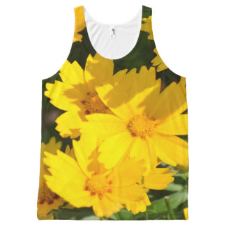 Yellow Coreopsis All-Over Print Tank Top