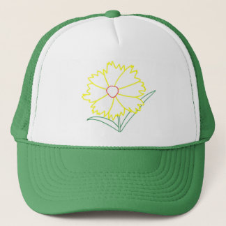 Yellow Coreopsis Flower Drawing Hats