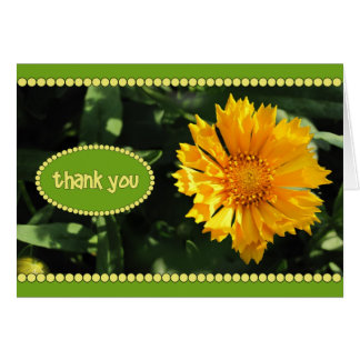 Yellow Coreopsis Flower Thank You Card