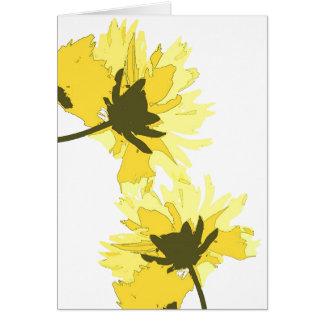 Yellow Coreopsis Flowers Art Card