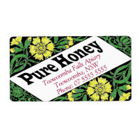Yellow Coreopsis Honey Label Shipping Label