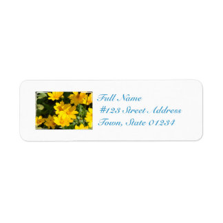 Yellow Coreopsis Label